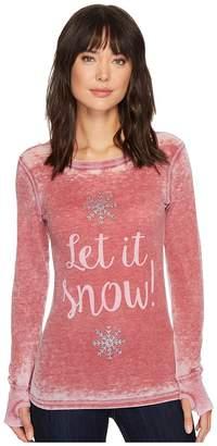 Allen Allen Let It Snow Thermal Top Women's Long Sleeve Pullover