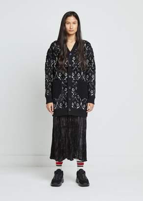 Junya Watanabe Wool Blend Jacquard Knit Cardigan
