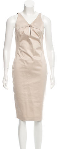 GucciGucci Ruched Back Midi Dress