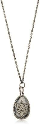 Jade Jagger Chevron Shield Diamond Pendant Necklace