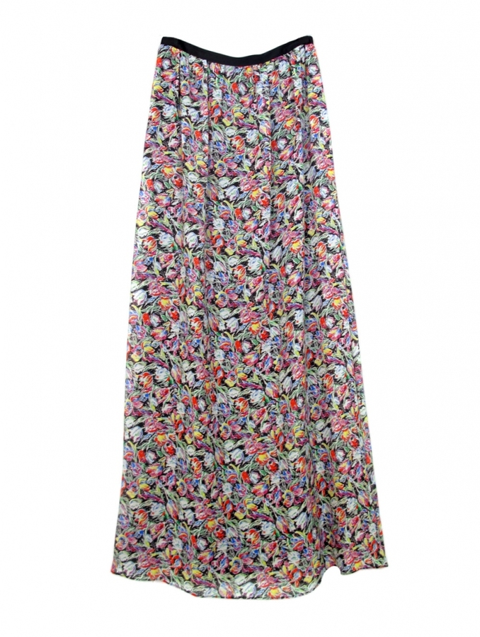 10 Crosby by Derek Lam Floral Maxi Skirt