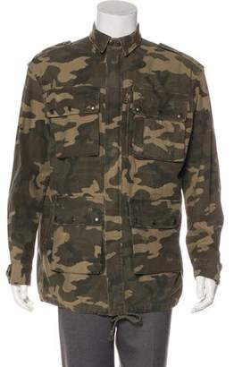 Faith Connexion Distressed Camouflage Jacket