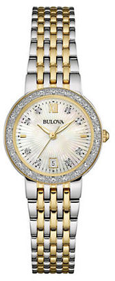 Bulova Diamond-Accented Stainless Steel Bracelet Watch $450 thestylecure.com