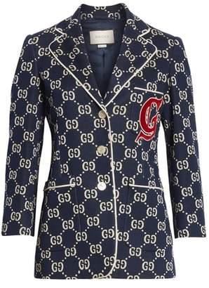 Gucci GG Embroidered Jersey Blazer