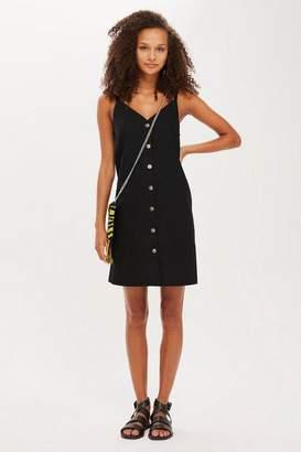 Topshop Tall Button Mini Slip Dress
