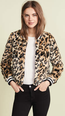 BB Dakota Jack by Clever Girl Leopard Faux Fur Bomber