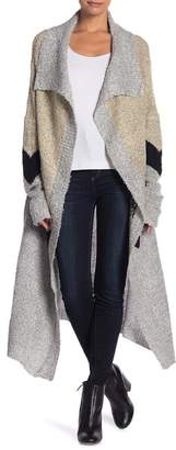 Solutions Chevron Waterfall Cardigan Duster