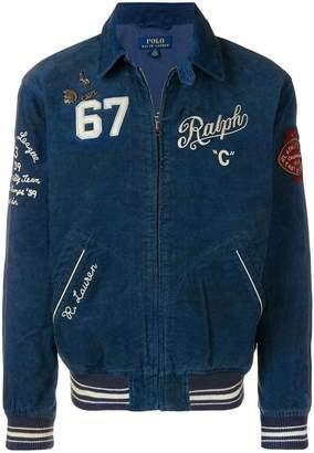 Polo Ralph Lauren patchwork corduroy bomber jacket