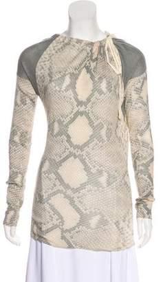 Prada Snake Printed Knit Top