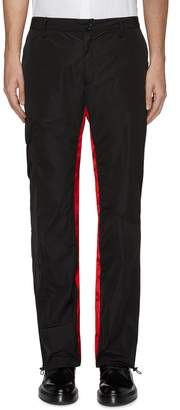 Wales Bonner Contrast stripe inseam nylon cargo pants