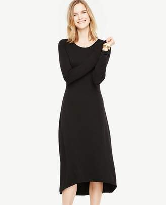 Ann Taylor Petite Elliptical Hem Midi Dress
