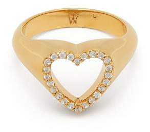 Theodora warre Theodora Warre - Heart Gold Plated Sterling Silver Pinky Ring - Womens - Gold