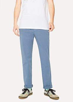Paul Smith Men's Slim-Fit Slate Blue Stretch Cotton-Twill Chinos