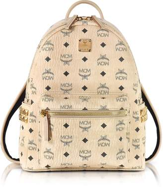 MCM Beige Small Stark Backpack