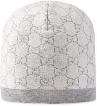 Baby GG pattern wool hat $90 thestylecure.com