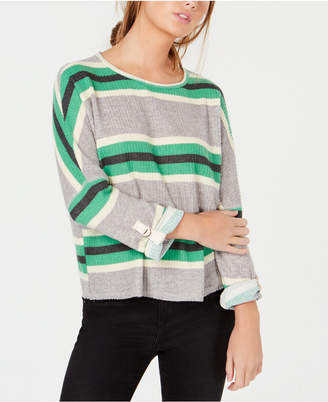 Self Esteem Juniors' Striped Waffle-Textured Top