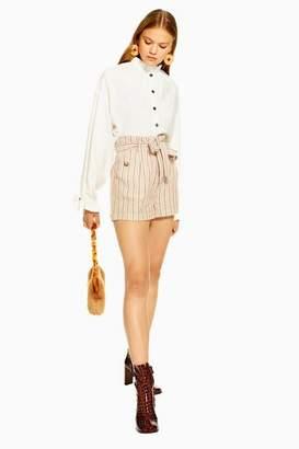 Topshop Womens Stripe Paperbag Shorts