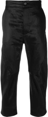 Cedric Jacquemyn cropped waxed trousers