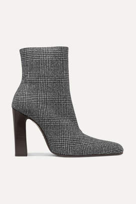 Balenciaga Prince Of Wales Checked Wool Ankle Boots - Black