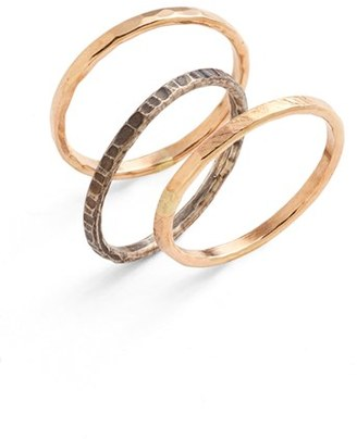 Women's Nashelle Ija Stackable Hammered Rings (Set Of 3) $73 thestylecure.com