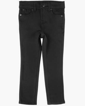 7 For All Mankind Girls 4-6X Second Skin Legging in Black Doubleknit