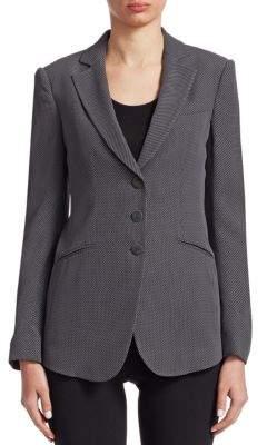 Emporio Armani Honeycomb Button-Front Blazer