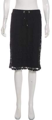 Calvin Klein Collection Lace Knee-Length Skirt