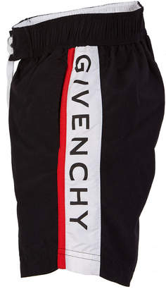Givenchy Logo-Sides Swim Trunks, Size 4-10