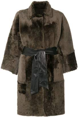 Drome oversized fur reversible coat