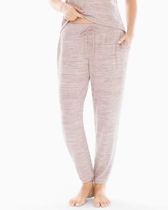 Cozy Nights Banded Ankle Pajama Pant Heather Vintage Pink