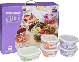 Lock & Lock 5-Piece Euro Glass Food Container Set