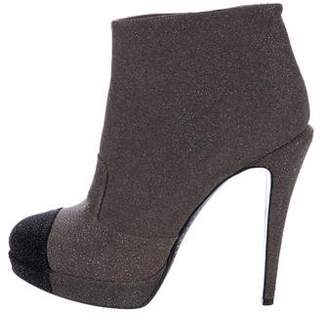 Chanel CC Platform Ankle Boots