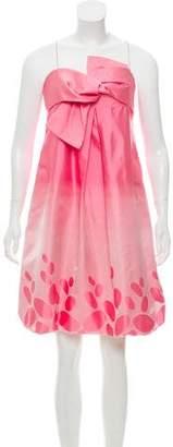 Paule Ka Silk Knee-Length Dress