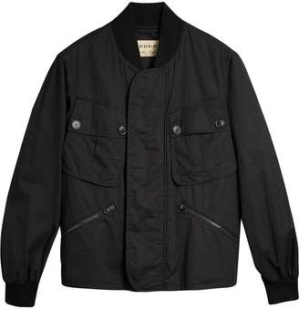Burberry Pocket Detail Cotton Bomber Jacket