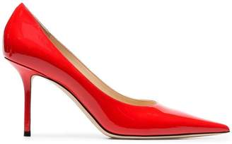 Jimmy Choo red Love 85 patent leather pumps