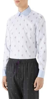 Gucci Kingsnake Fil Coupe Sport Shirt
