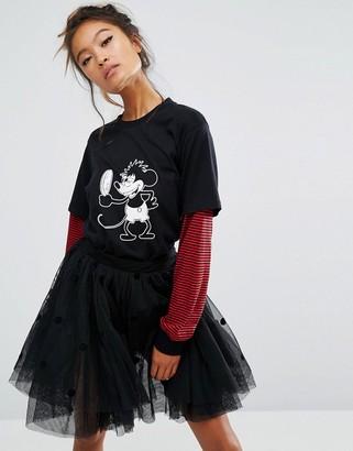 Lazy Oaf X Disney Mickey Mirror Long Sleeve T-Shirt $76 thestylecure.com