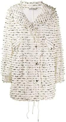 ANAÏS JOURDEN foil embellished single-breasted coat