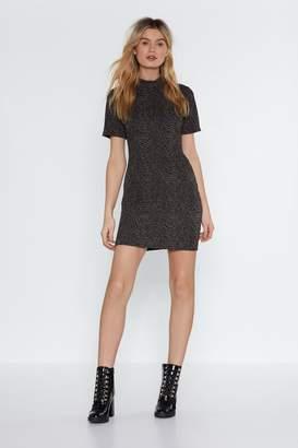 Nasty Gal Bodycon HIgh Neck Mini Dress