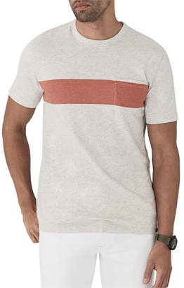 Faherty Men's Surf Striped Pocket T-Shirt