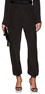 Juan Carlos Obando Women's Metallic Knit Harem Pants - Bronze