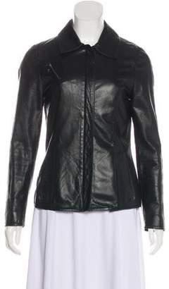 Henry Beguelin Leather Zip-Up Jacket