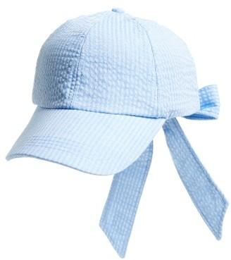 Women's Topshop Stripe Bow Back Cap - Blue $22 thestylecure.com