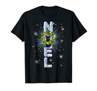 Christmas Cat Snow Lens Flare Meowy Noel Shirt