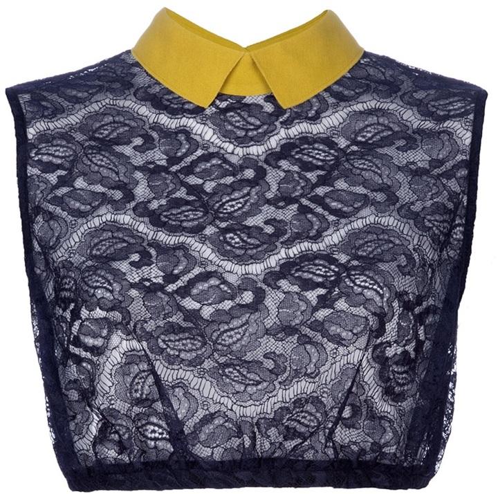 Carven Sheer crop blouse