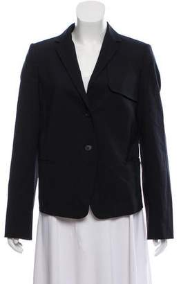 Calvin Klein Collection Wool Button-Up Blazer