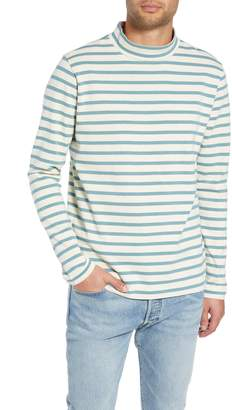YMC Striped Mock Neck T-Shirt