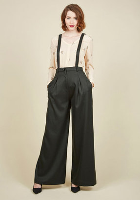 Collectif Clothing Conference Room Coffee Pants in Forest $69.99 thestylecure.com