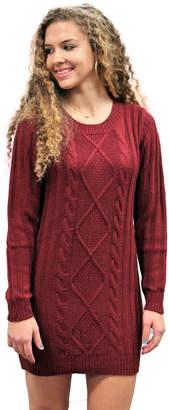 Elan International Cable Sweater Dress