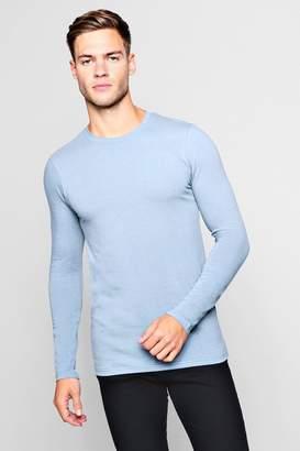 boohoo Long Sleeve Muscle Fit T-Shirt
